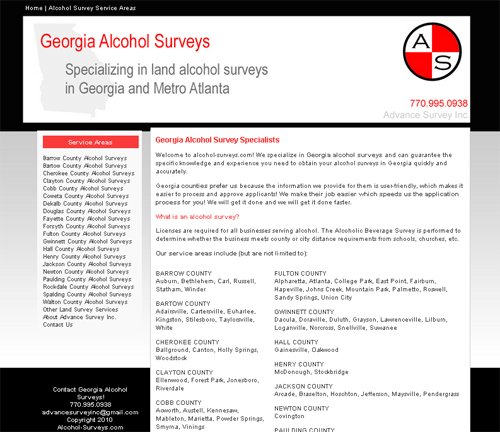 Georgia Alcohol Surveys