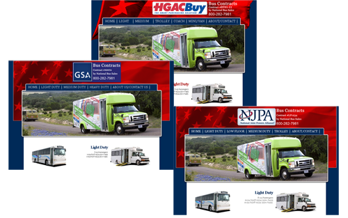 National Bus Sales Microsites