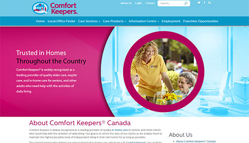 Comfort Keepers Canada – Corporate and Franchisee Sites